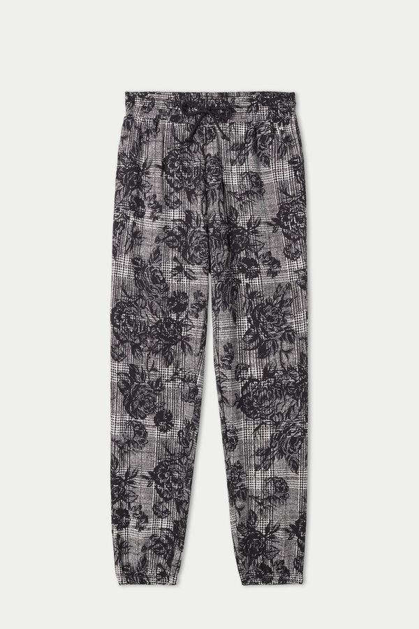 Pantaloni jogger cu buzunar cu refilet