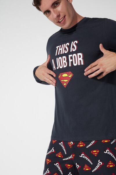 Men's Long Superman Pajamas