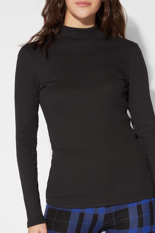 Cotton High-Neck Shirt