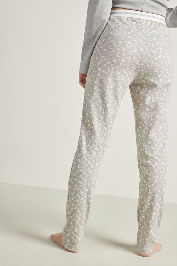 Long Printed Cotton Pants