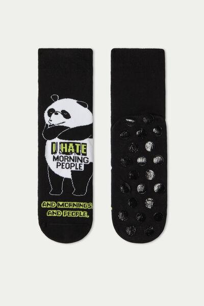 Non-Slip Socks with Beer Print