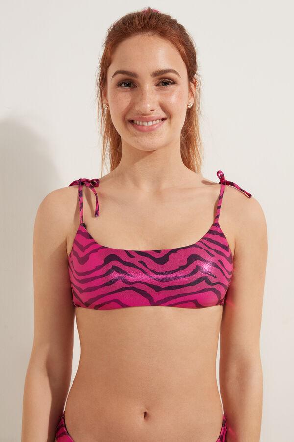 Bikini Brasier Shiny Zebra