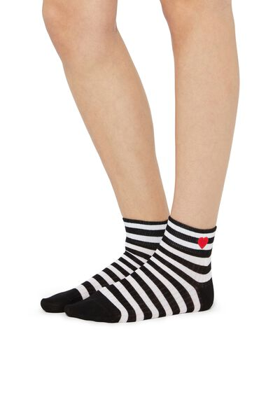 Short Patterned Cotton Socks