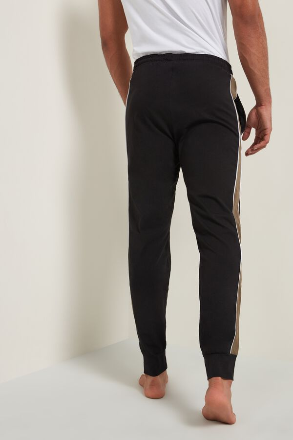 Sweatpants with Side Stripe and Pockets
