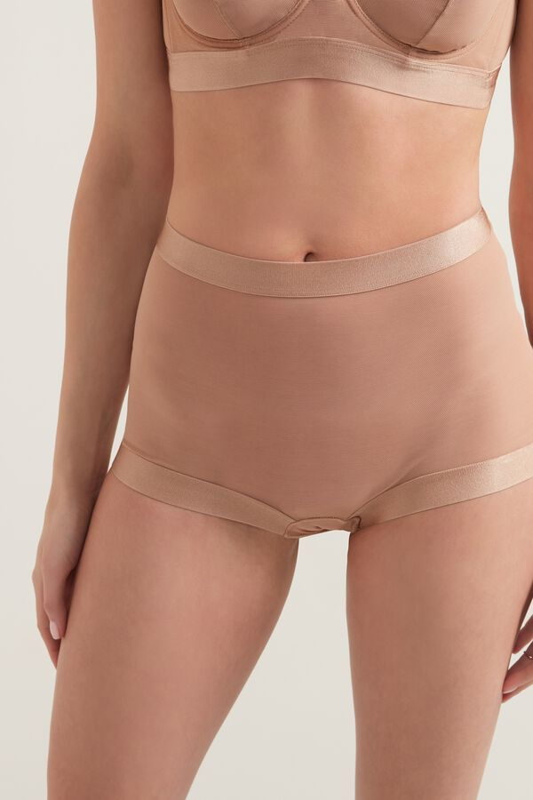 Shorty Taille Haute Tulle Invisible Mesh