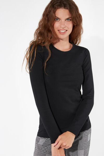 Long-Sleeved Thermal Modal Top
