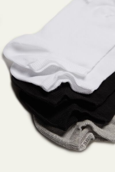 5 X Short Cotton Socks