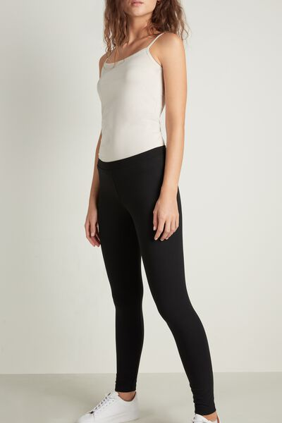 Basic-Leggings aus Baumwolle