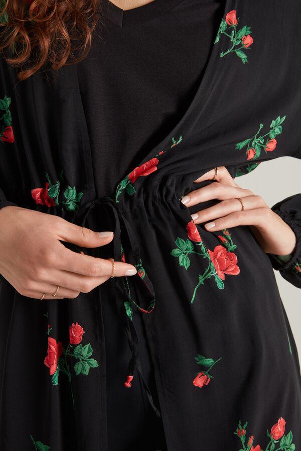 Long Kaftan Dress in Cotton Canvas
