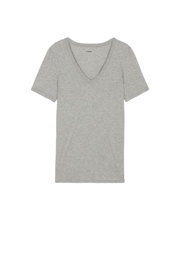 Basic Cotton V-Neck T-Shirt