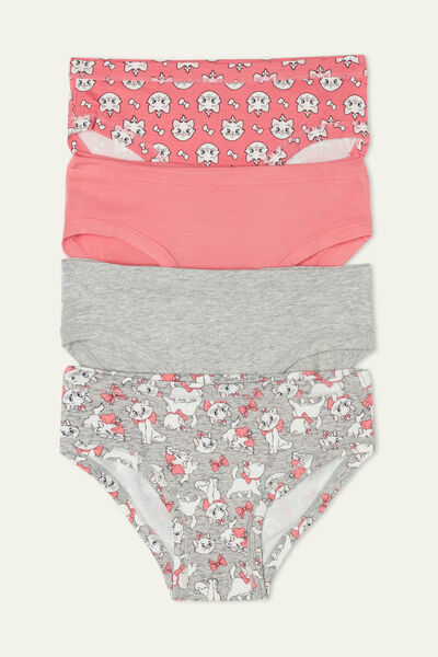 Pack of 4 Cotton Knickers with Disney Aristocats Print
