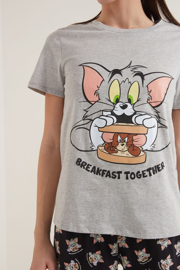 Kurzer Pyjama aus Baumwolle Tom and Jerry Breakfast