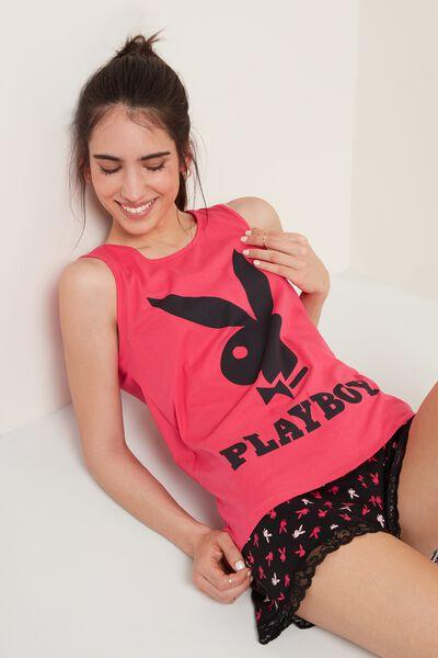 Kurzer Pyjama mit Top Playboy