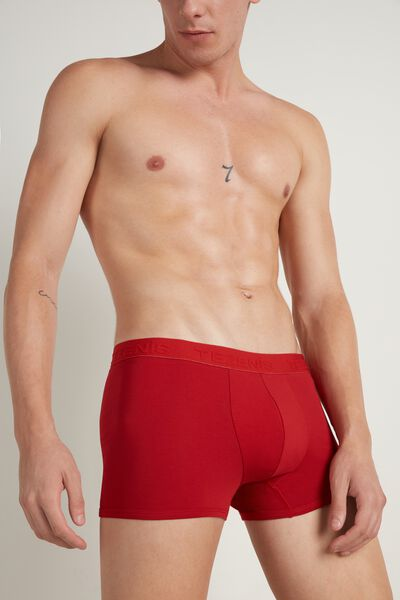 Cotton Boxers with Raised Elasticated Logo Waistband