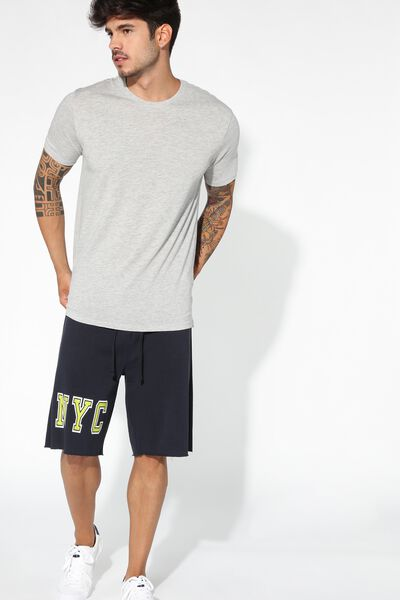Raw-Edge Fleece Shorts