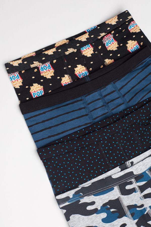 Pack 4 Boxers en Coton avec Imprimé Fantaisie