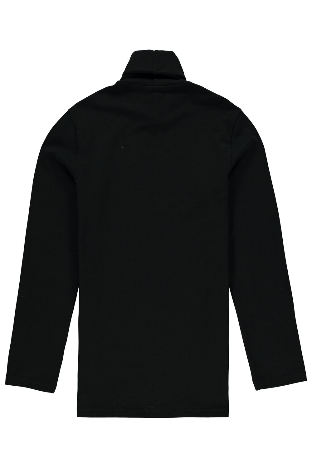 Long-Sleeve High-Neck Thermal Cotton Top