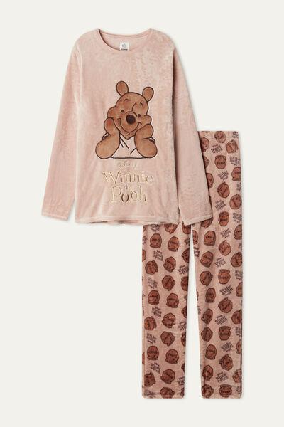 Langer Pyjama aus Fleece mit Winnie Pooh Patch