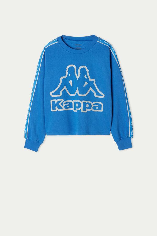 Sweat Court Ras-de-cou Coton et Bandes Kappa