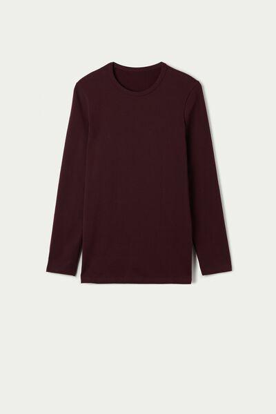 Langarm-Shirt Rundhals Thermobaumwolle