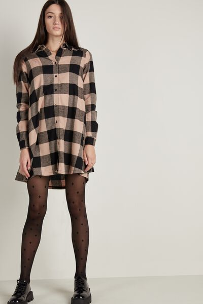 Flannel Shirt Dress