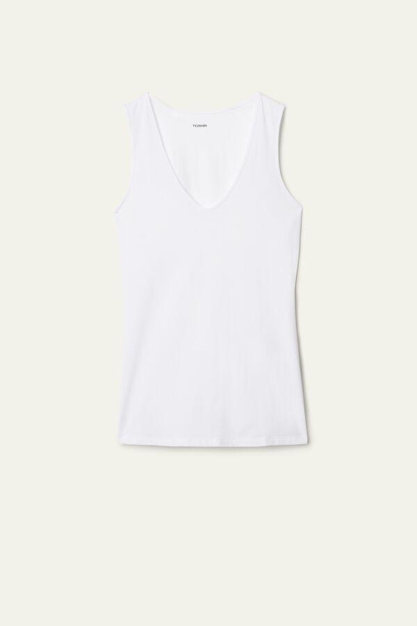 Wide Shoulder V-Neck Cotton Camisole