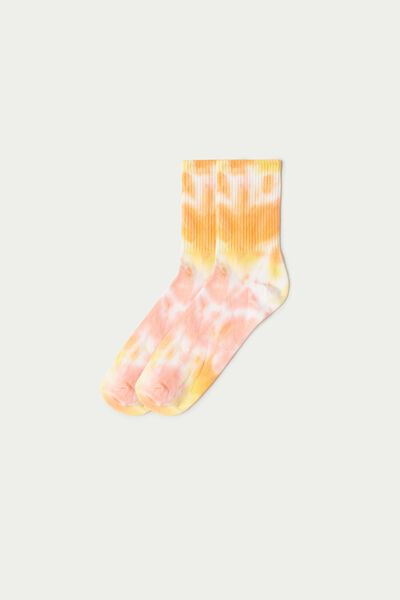 Patterned Cotton Sports Crew Socks