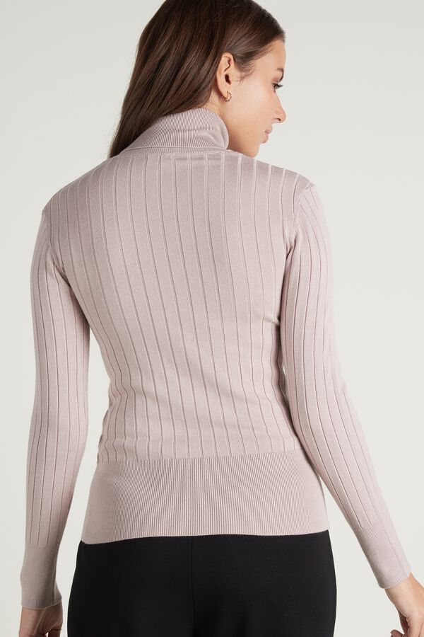 Long-Sleeved Polo Neck Jersey