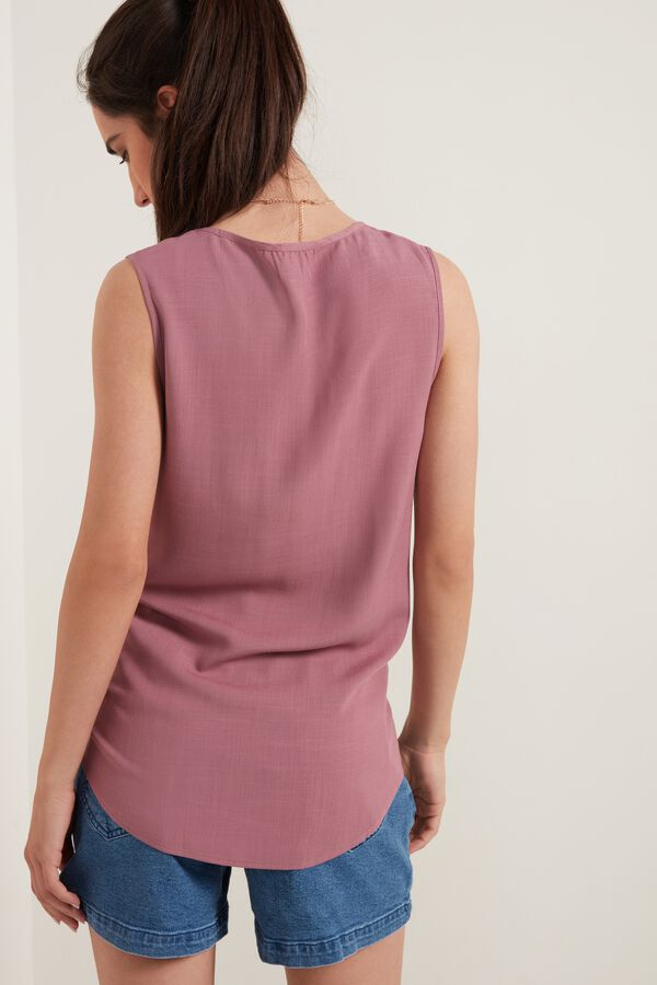 Asymmetric Brushed Canvas Camisole