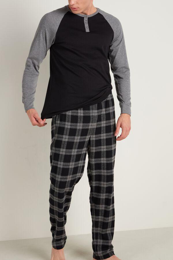 Mens Long Henley Pajamas