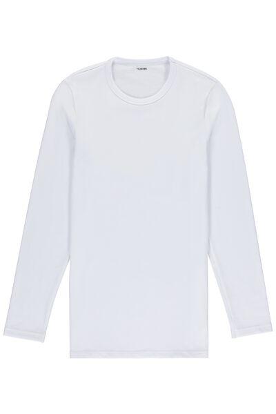 Ισοθερμική Μακρυμάνικη Μπλούζα με Λαιμόκοψη από Βαμβάκι