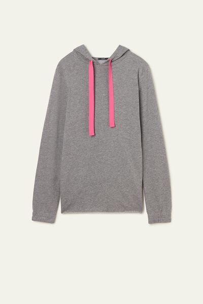 Lightweight Laser Cut Hooded Sweatshirt