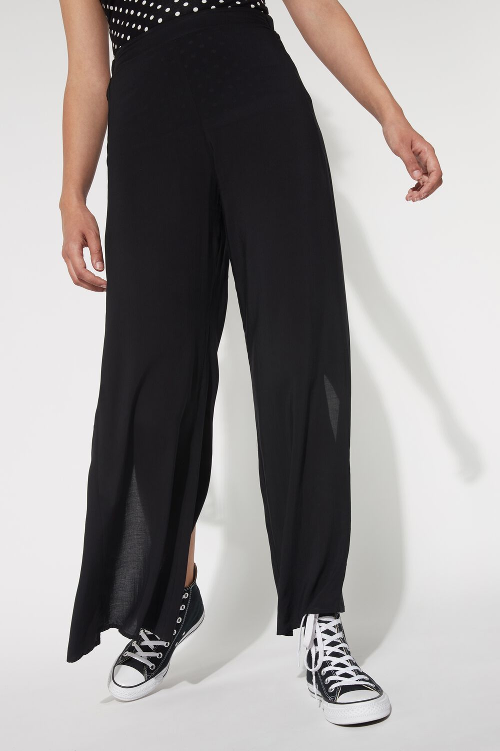 Viscose Pants with Vent