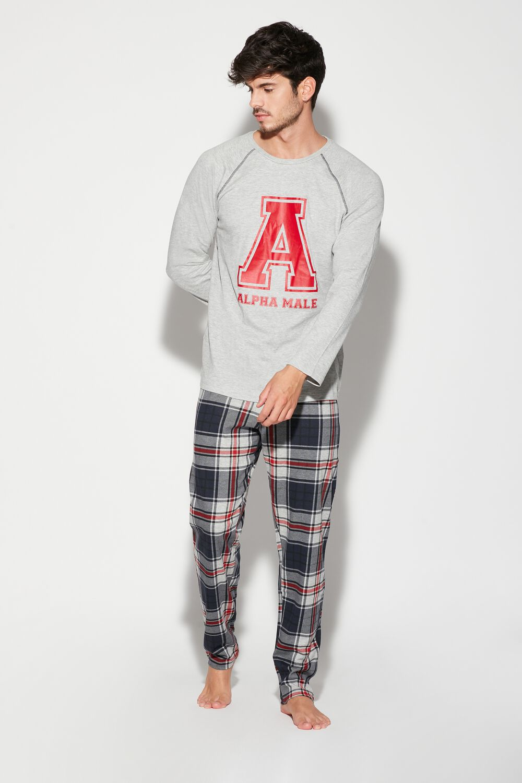 Men's Long Alpha Male Print Pajama