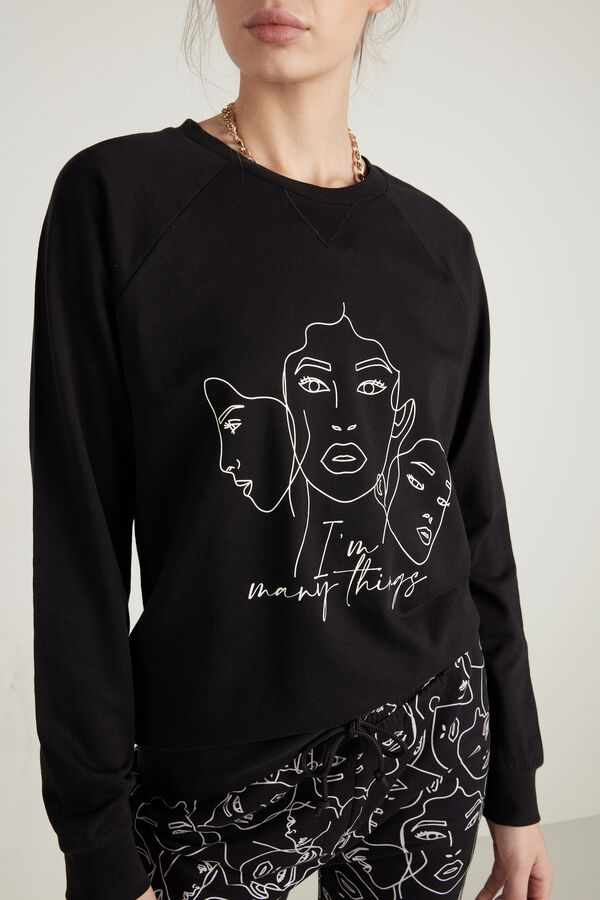 Long Sleeve Top with Print