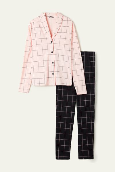 Long Cotton Button-Down Pyjamas