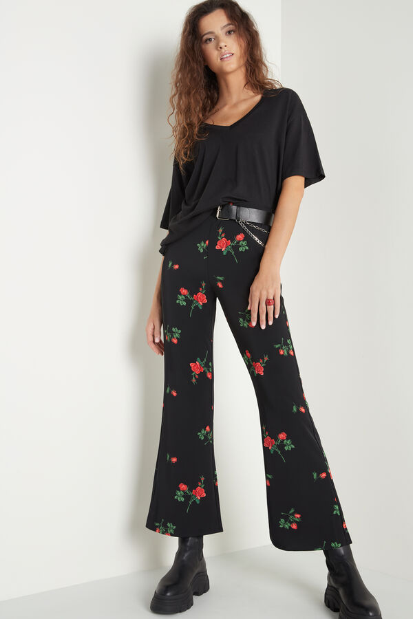 Flared Canvas Trousers