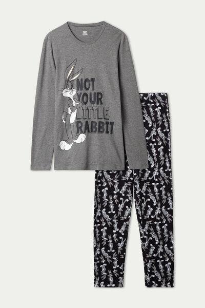 Long Heavy Cotton Pyjamas with Bugs Bunny Print