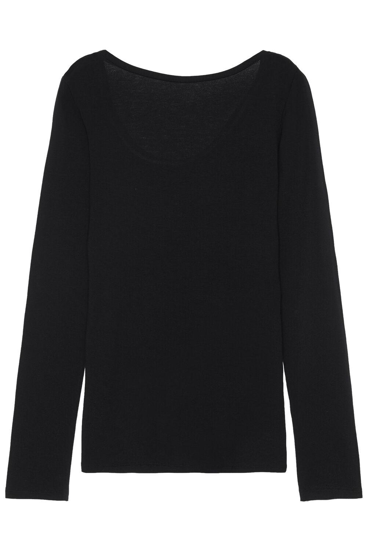 Langarm-Shirt Rund-Ausschnitt Viskose