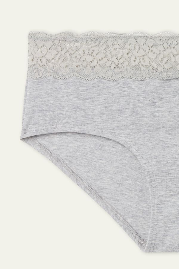 Cotton and Recycled Lace French Knickers
