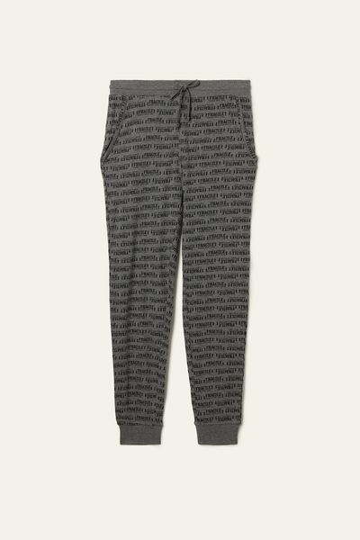 Basic Long Heavy Cotton Trousers
