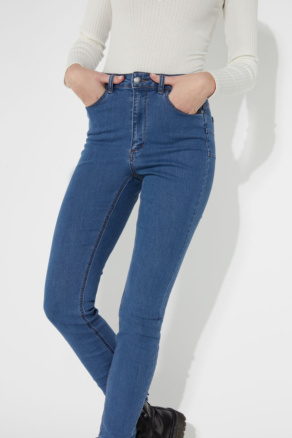 Push Up Jeggings with Zipper