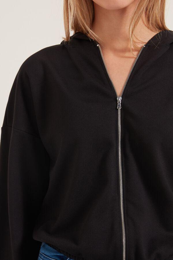 Bomber-Style Zip-Up Fleece Hoodie