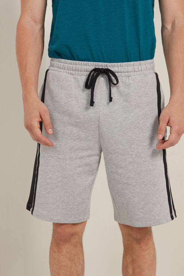 Fleece Shorts with Side Stripes