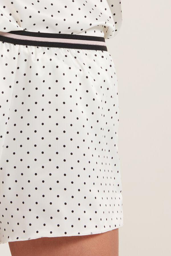 Micro Polka Dot Satin Shorts