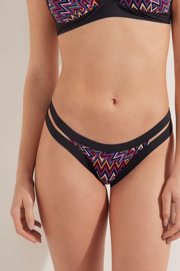 Pop Chevron Brazilian Bikini Bottoms