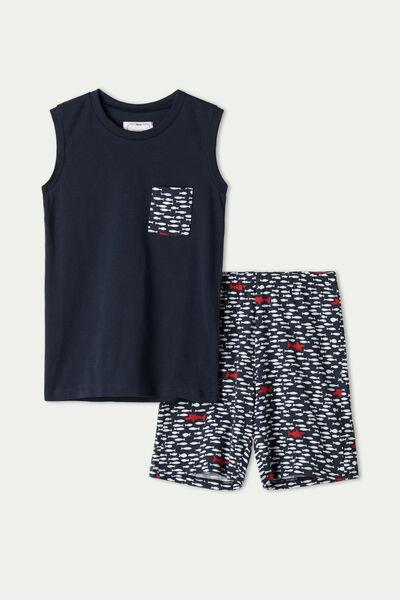 Boys' Fish Print Short Pyjamas