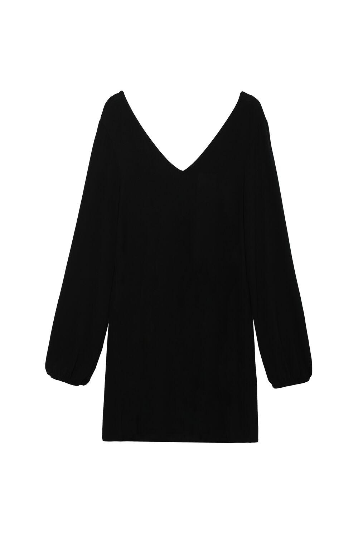 Long-Sleeved V-Neck Dress