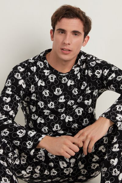 Men's Allover Mickey Mouse Long Cotton Pyjamas
