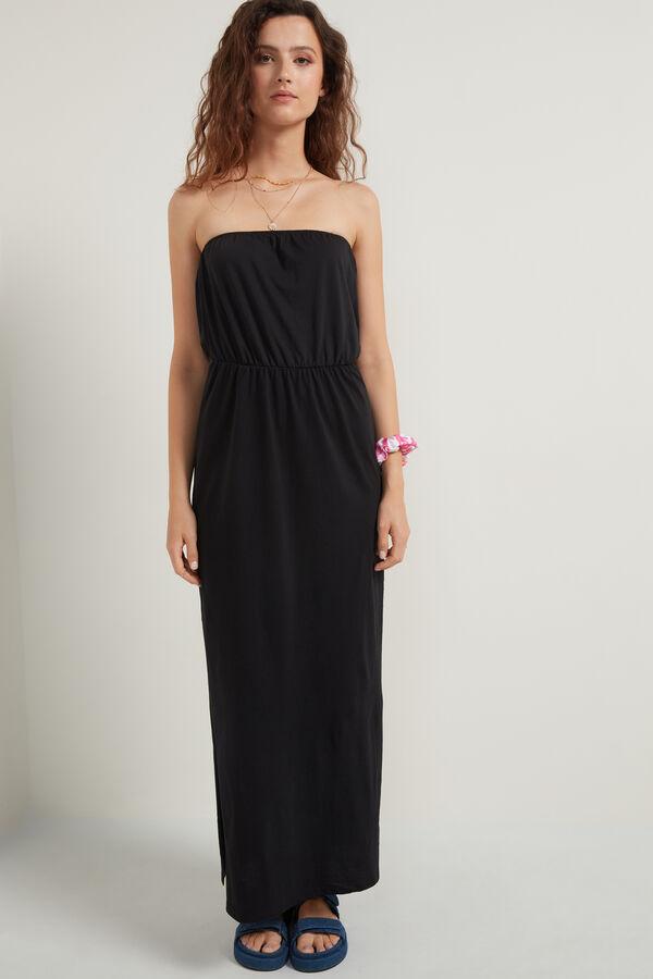 Μακρύ Εφαρμοστό Φόρεμα με Σκισίματα